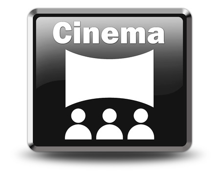 motion picture: Icon, Button, Pictogram with Cinema symbol