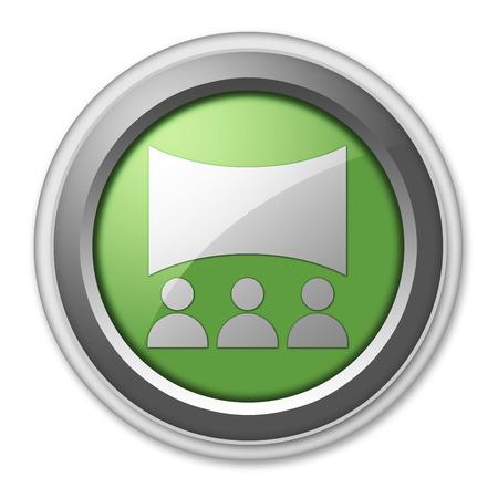 button icon: Icon, Button, Pictogram with Cinema symbol