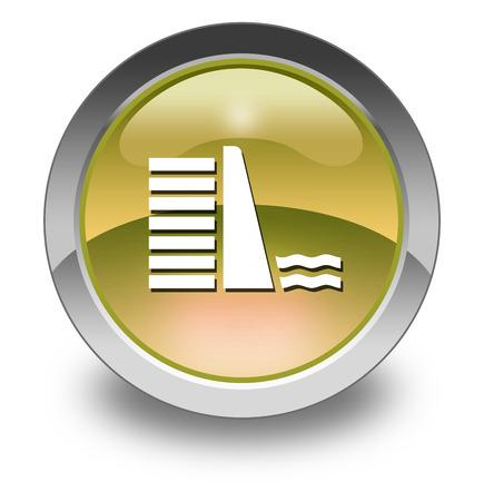 retain: Icon, Button, Pictogram with Dam symbol