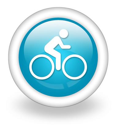 button icon: Icon, Button, Pictogram with Bicycle symbol Stock Photo