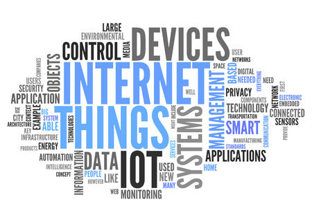 World Cloud with Internet Of Things related tags Foto de archivo