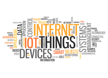 World Cloud with Internet Of Things related tags 版權商用圖片