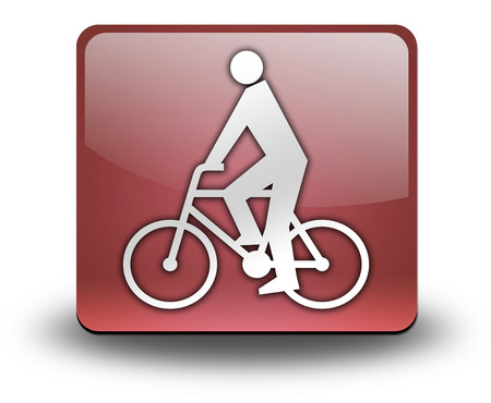 bicycler: Icon, Button, Pictogram with Bicycle symbol Stock Photo
