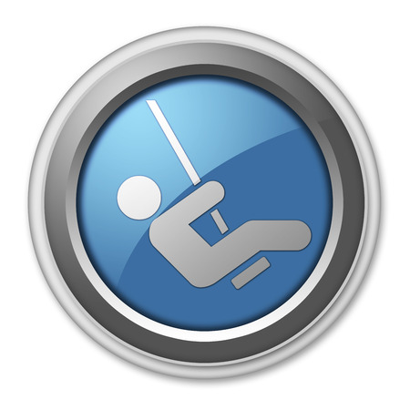 children play area: Icon, Button, Pictogram with Playground symbol Stock Photo