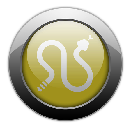Icon, Button, Pictogram with Rattlesnakes symbol