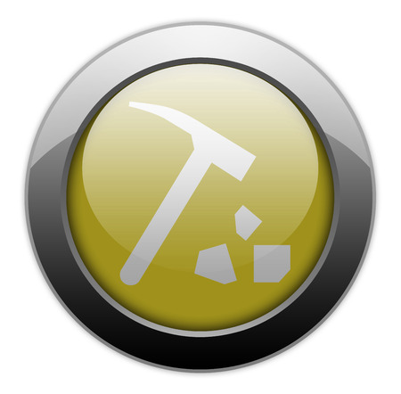 sedimentary: Icon, Button, Pictogram with Rock Collecting symbol