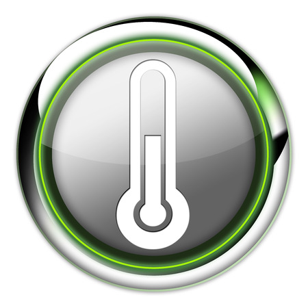 Icon, Button, Pictogram with Temperature symbol Stock Photo