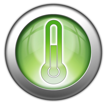 pushbuttons: Icon, Button, Pictogram with Temperature symbol Stock Photo