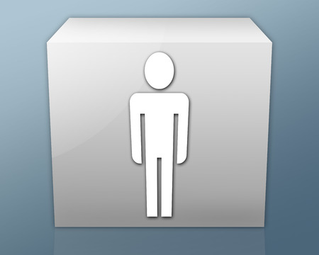 men's: Icon, Button, Pictogram with Mens Restroom symbol