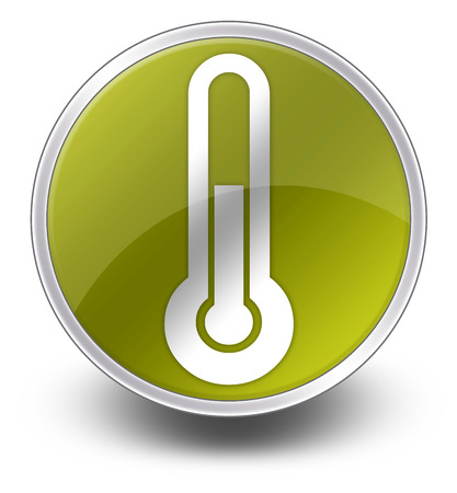 meterology: Icon, Button, Pictogram with Temperature symbol Stock Photo