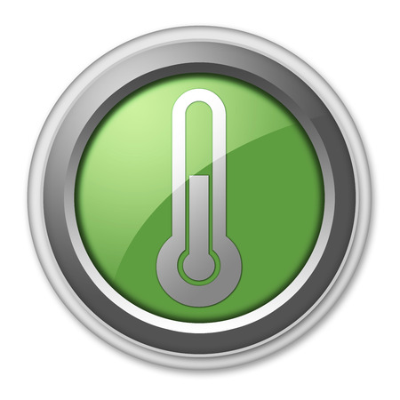 thermostat: Icon, Button, Pictogram with Temperature symbol Stock Photo