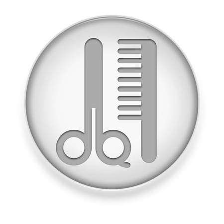 trimmer: Icon, Button, Pictogram with Barber Shop symbol