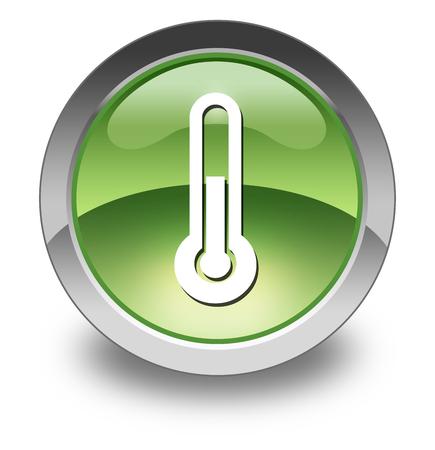 meterologist: Icon, Button, Pictogram with Temperature symbol Stock Photo