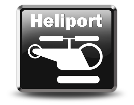 medevac: Icon, Button, Pictogram with Heliport symbol