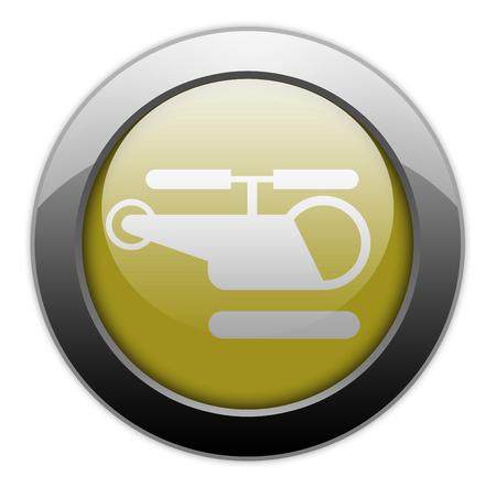 piloting: Icon, Button, Pictogram with Heliport symbol