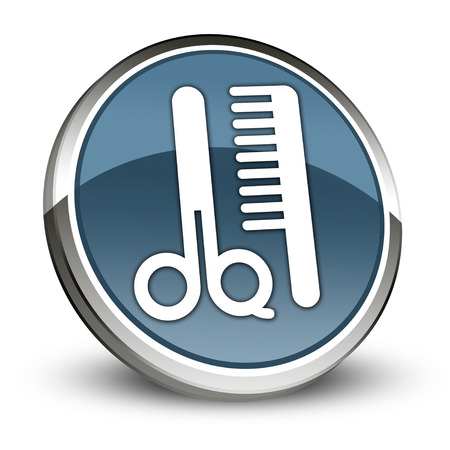 barber shop: Icon, Button, Pictogram with Barber Shop symbol