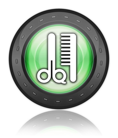 coiffeur: Icon, Button, Pictogram with Barber Shop symbol