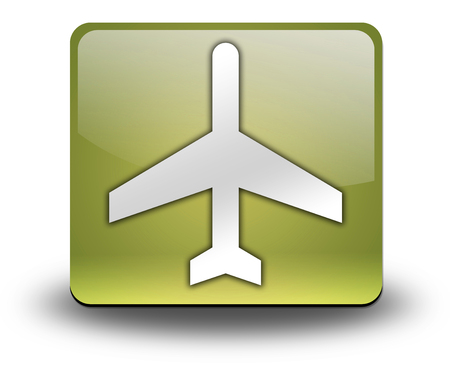 air port: Icon, Button, Pictogram with Airport symbol