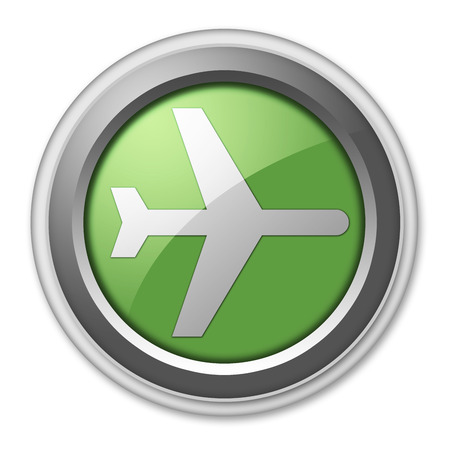 flight board: Icon, Button, Pictogram with Airport symbol