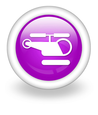 Icon, Button, Pictogram with Heliport symbol