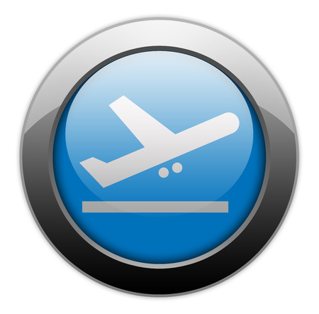 aircraft take off: Icon, Button, Pictogram with Airport Departures symbol