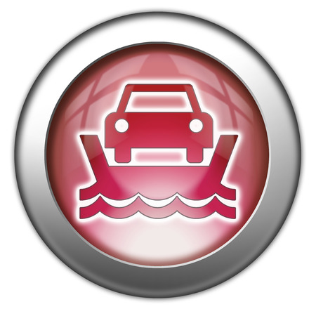 ferry: Icon, Button, Pictogram with Vehicle Ferry symbol Stock Photo