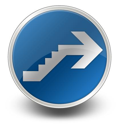 Icône, Bouton, pictogramme avec le symbole étage Banque d'images - 47785484