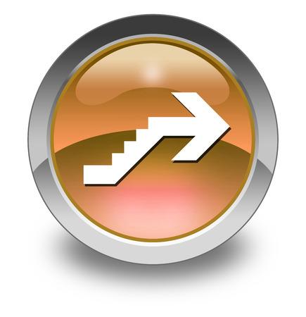 Icône, Bouton, pictogramme avec le symbole étage Banque d'images - 47785700