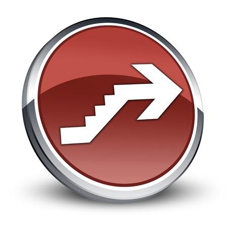 Icône, Bouton, pictogramme avec le symbole étage Banque d'images - 47785766