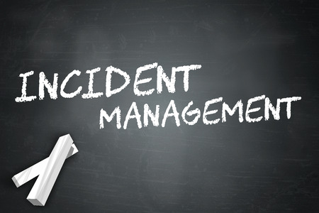 incident: Blackboard with Incident Management wording Stock Photo