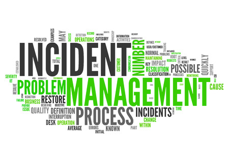 incident: Wordcloud with Incident Management tags