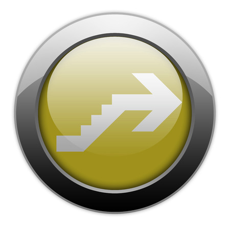 Icon, Button, Pictogram with Upstairs symbol Stock Photo