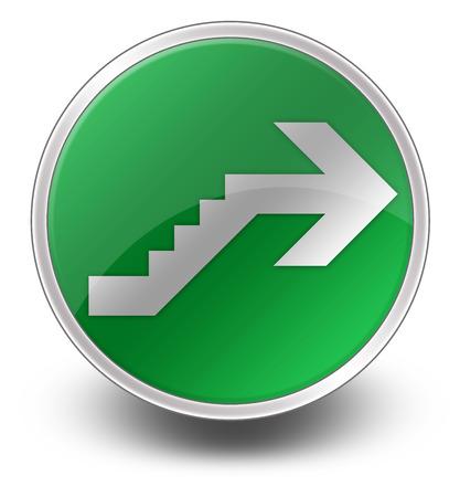 Icône, Bouton, pictogramme avec le symbole étage Banque d'images - 48207544