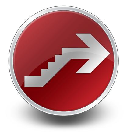 Icône, Bouton, pictogramme avec le symbole étage Banque d'images - 48207545