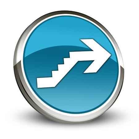 Icône, Bouton, pictogramme avec le symbole étage Banque d'images - 48207552