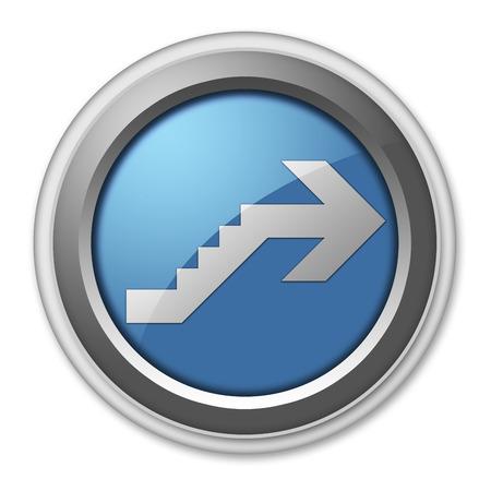 Icône, Bouton, pictogramme avec le symbole étage Banque d'images - 48207551