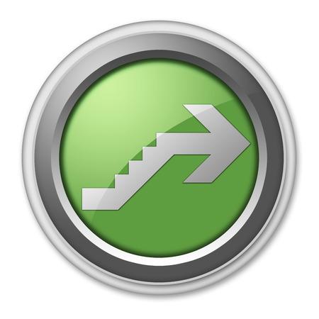 Icône, Bouton, pictogramme avec le symbole étage Banque d'images - 48207558