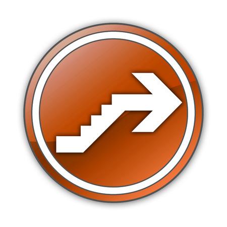 Icône, Bouton, pictogramme avec le symbole étage Banque d'images - 48207495