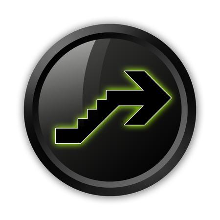 Icône, Bouton, pictogramme avec le symbole étage Banque d'images - 48207520
