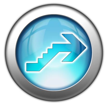 Icône, Bouton, pictogramme avec le symbole étage Banque d'images - 48207519