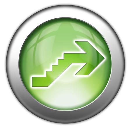Icône, Bouton, pictogramme avec le symbole étage Banque d'images - 48207516
