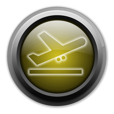 airfield: Icon, Button, Pictogram with Airport Departures symbol