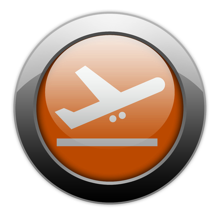 departing: Icon, Button, Pictogram with Airport Departures symbol