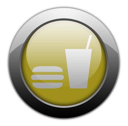 comida rápida: Icon, Button, Pictogram with Fast Food symbol