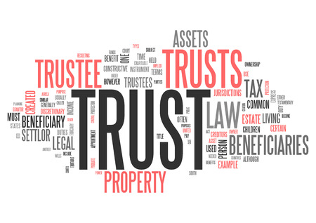 Wordcloud with Trust related tags