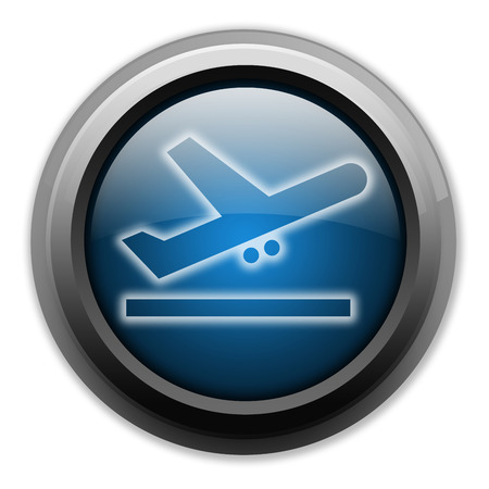 starting a business: Icon, Button, Pictogram with Airport Departures symbol