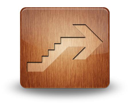 Icône, Bouton, pictogramme avec le symbole étage Banque d'images - 48207339