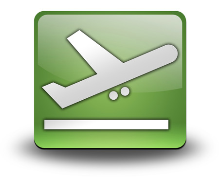 Icon, Button, Pictogram with Airport Departures symbol