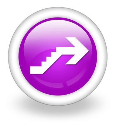 Icône, Bouton, pictogramme avec le symbole étage Banque d'images - 48207343