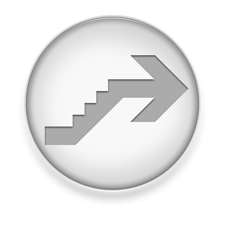 upstairs: Icon, Button, Pictogram with Upstairs symbol Stock Photo